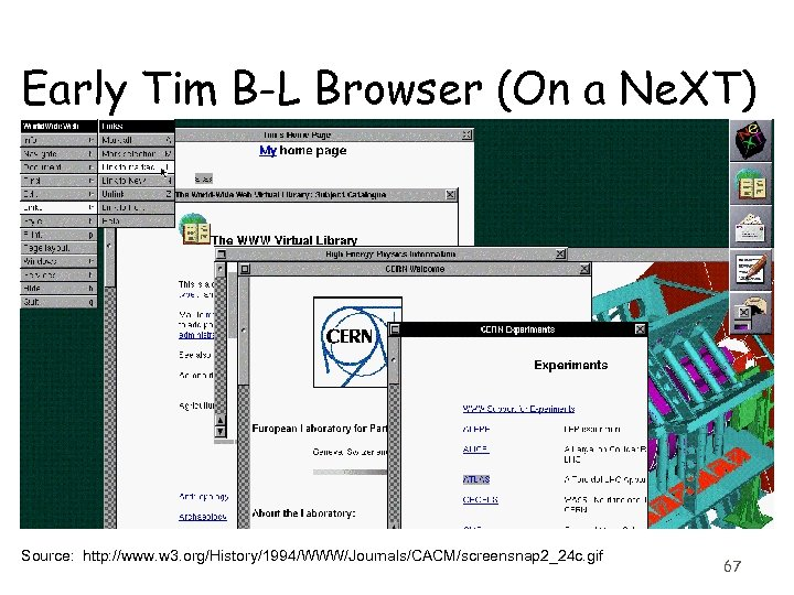 Early Tim B-L Browser (On a Ne. XT) Source: http: //www. w 3. org/History/1994/WWW/Journals/CACM/screensnap