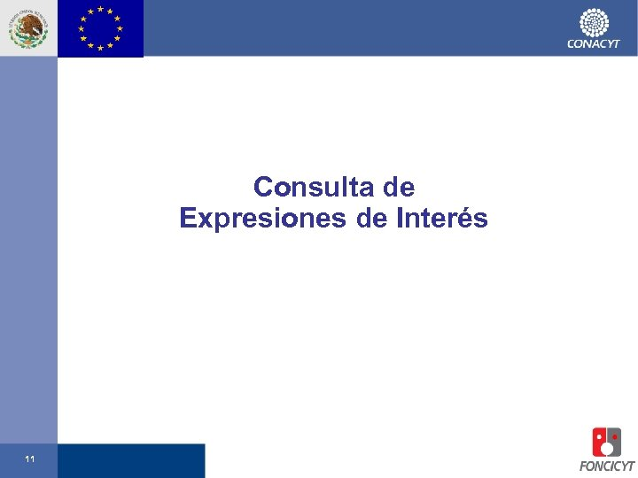 Consulta de Expresiones de Interés 11