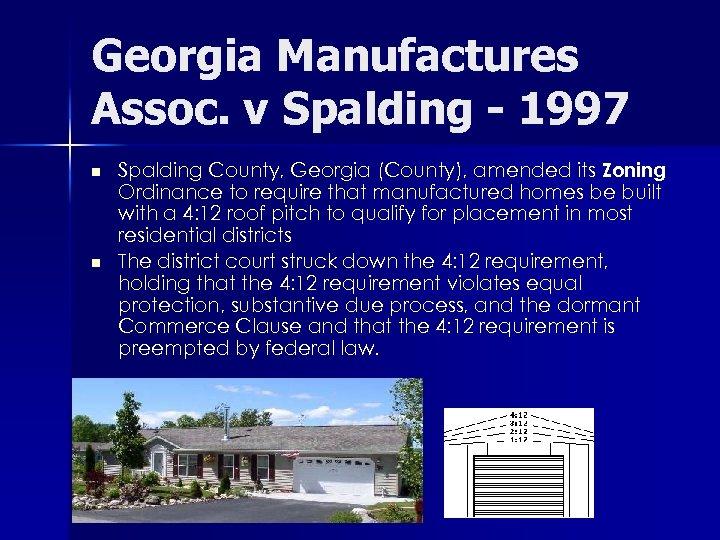 Georgia Manufactures Assoc. v Spalding - 1997 n n Spalding County, Georgia (County), amended