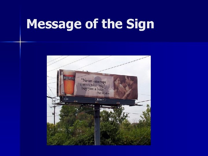 Message of the Sign
