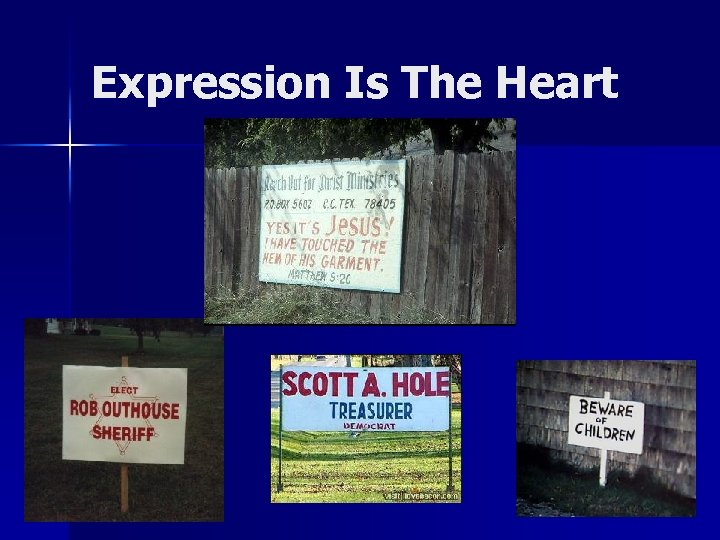 Expression Is The Heart