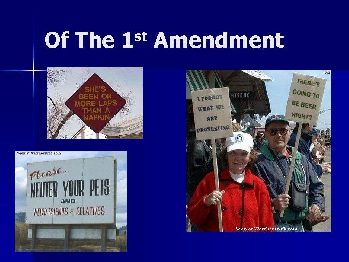Of The 1 st Amendment