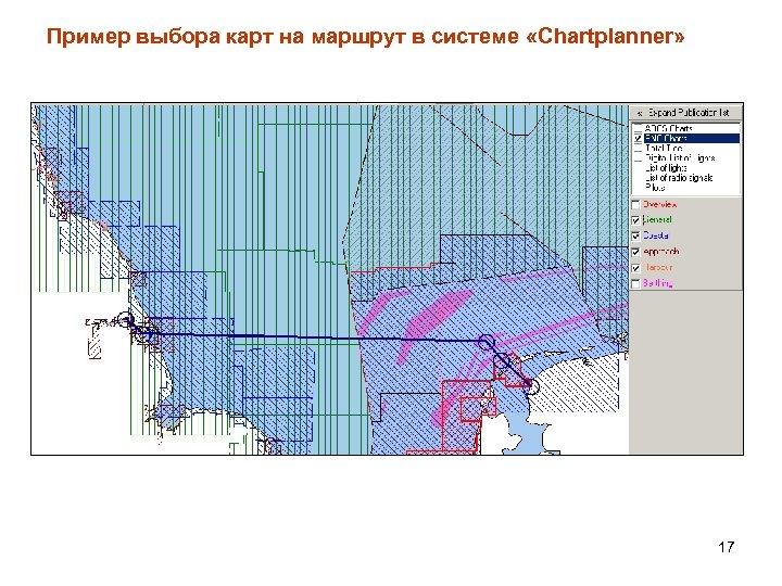 Пример выбора карт на маршрут в системе «Chartplanner» 17