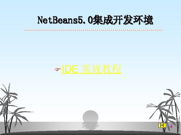 Net. Beans 5. 0集成开发环境 FIDE 常规教程 4