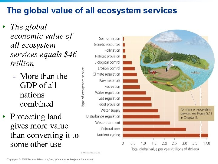 The global value of all ecosystem services • The global economic value of all