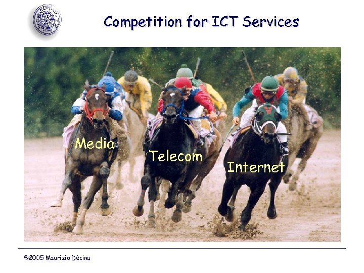 Competition for ICT Services Media © 2005 Maurizio Dècina Telecom Internet
