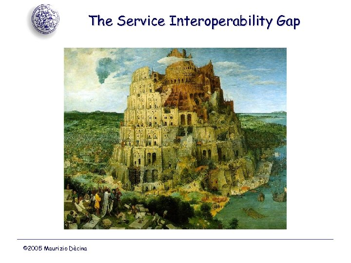 The Service Interoperability Gap © 2005 Maurizio Dècina