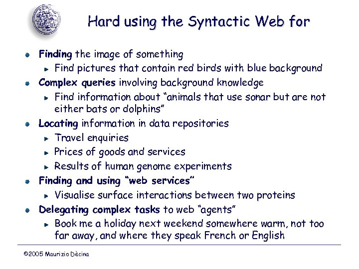 Hard using the Syntactic Web for Finding the image of something Find pictures that