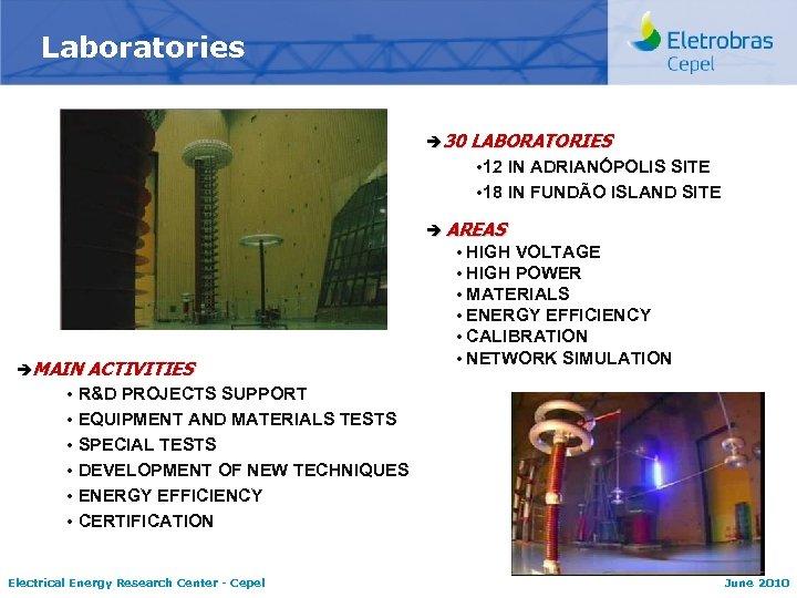 Laboratories è 30 LABORATORIES 12 IN ADRIANÓPOLIS SITE 18 IN FUNDÃO ISLAND SITE èMAIN