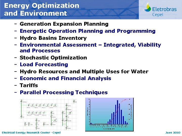 Energy Optimization and Environment – – – – – Generation Expansion Planning Energetic Operation