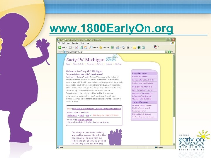 www. 1800 Early. On. org