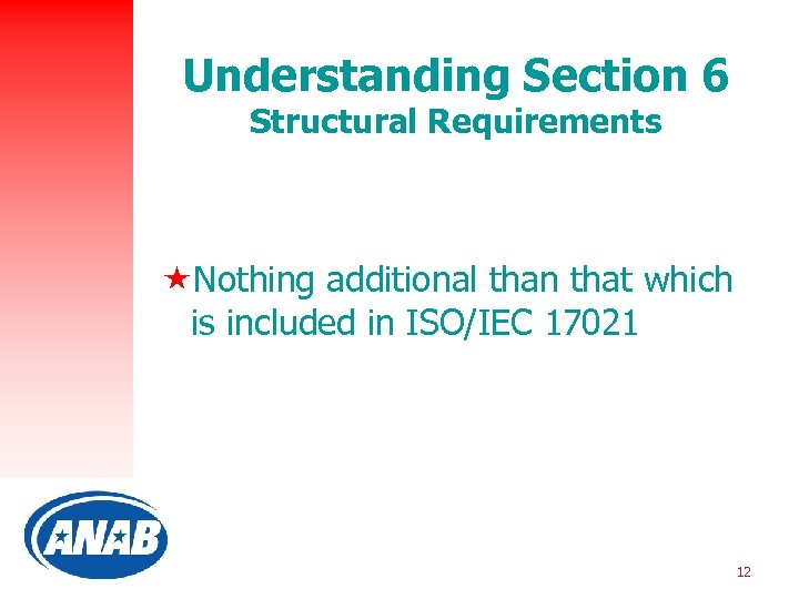 Understanding Section 6 Structural Requirements «Nothing additional than that which is included in ISO/IEC