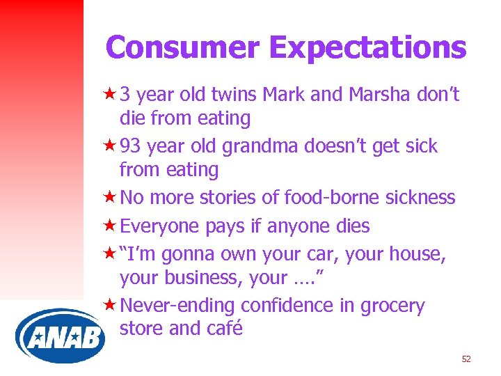 Consumer Expectations « 3 year old twins Mark and Marsha don't die from eating