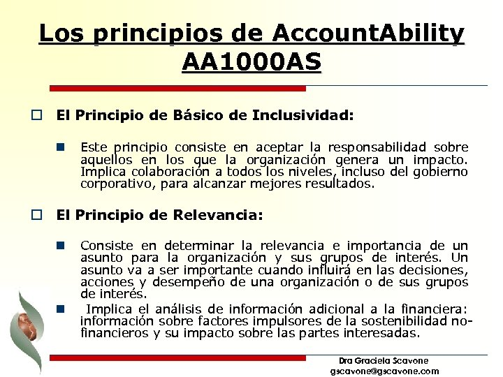Los principios de Account. Ability AA 1000 AS o El Principio de Básico de