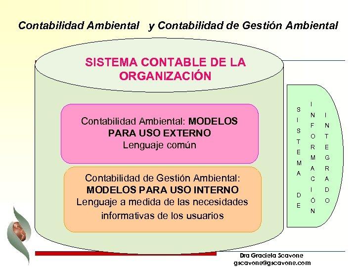 Contabilidad Ambiental y Contabilidad de Gestión Ambiental SISTEMA CONTABLE DE LA ORGANIZACIÓN S Contabilidad