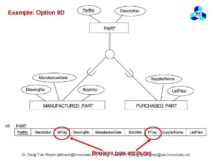 Example: Option 8 D Boolean type Quang (quangtran@cse. hcmut. edu. vn) Dr. Dang Tran