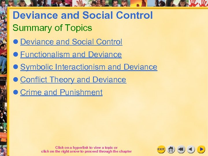 Deviance And Social Control Summary Of Topics L