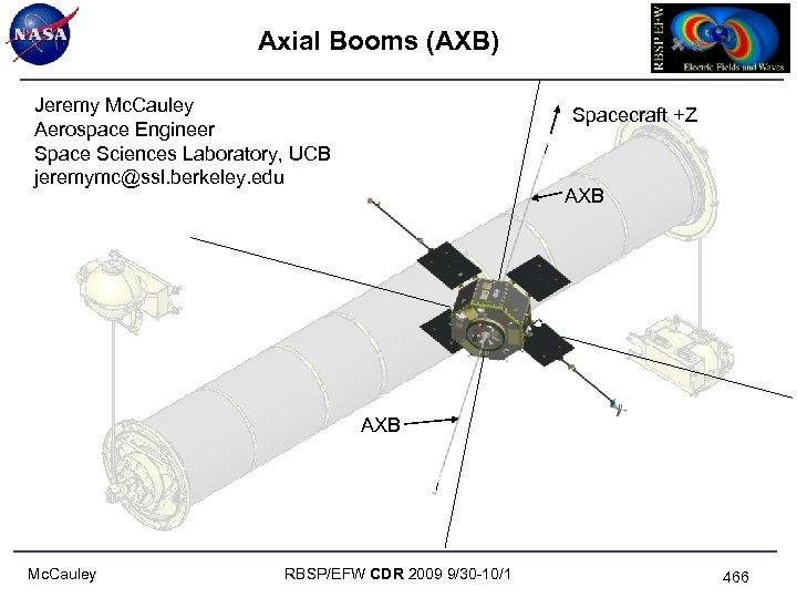 Axial Booms (AXB) Jeremy Mc. Cauley Aerospace Engineer Space Sciences Laboratory, UCB jeremymc@ssl. berkeley.