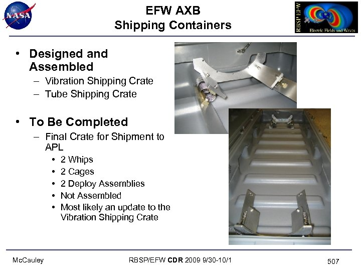 EFW AXB Shipping Containers • Designed and Assembled – Vibration Shipping Crate – Tube