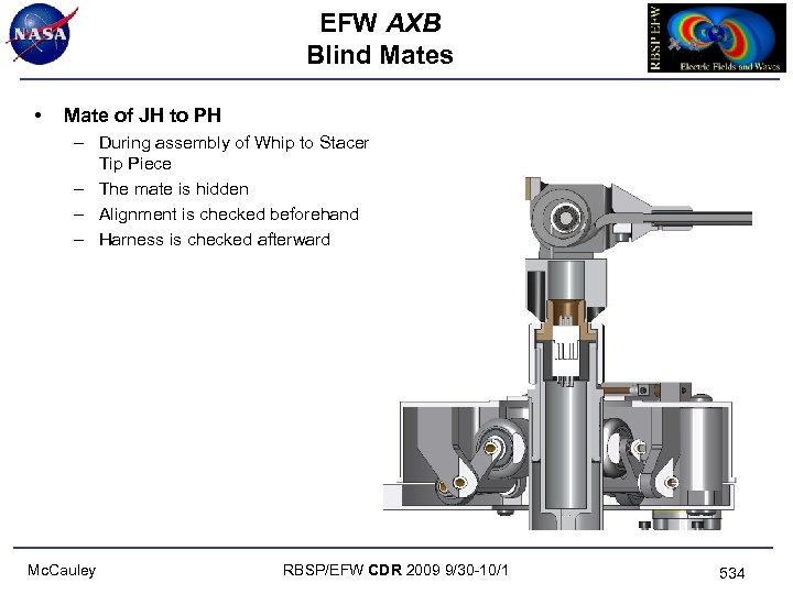 EFW AXB Blind Mates • Mate of JH to PH – During assembly of