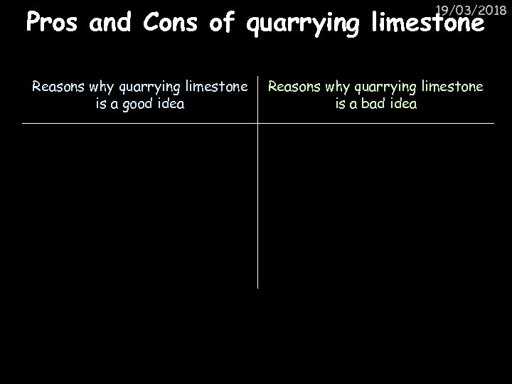 19/03/2018 Pros and Cons of quarrying limestone Reasons why quarrying limestone is a good