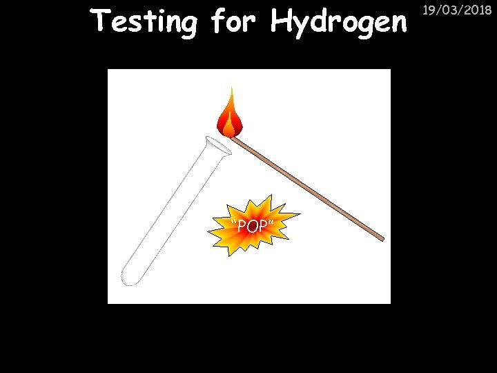 "Testing for Hydrogen ""POP"" 19/03/2018"