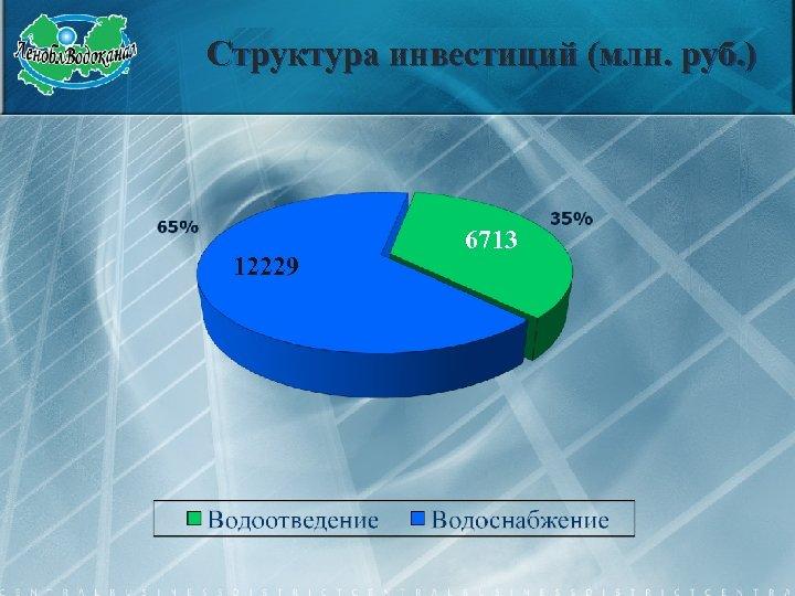 Структура инвестиций (млн. руб. ) 12229 6713