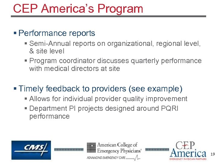 CEP America's Program § Performance reports § Semi-Annual reports on organizational, regional level, &