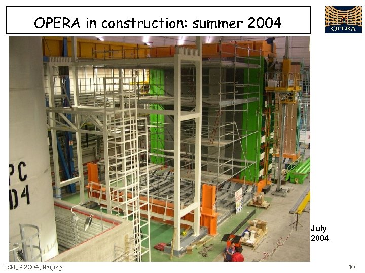 OPERA in construction: summer 2004 July 2004 ICHEP 2004, Beijing 10