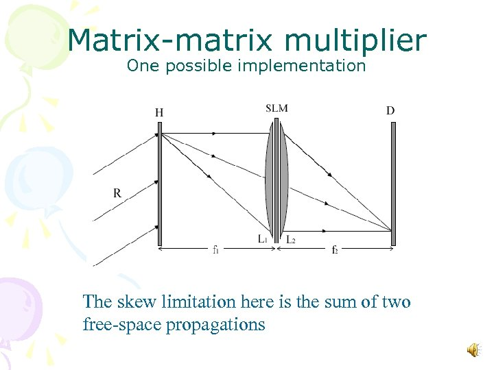 Matrix-matrix multiplier One possible implementation The skew limitation here is the sum of two