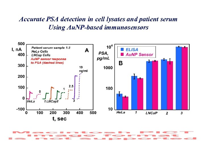Accurate PSA detection in cell lysates and patient serum Using Au. NP-based immunosensors