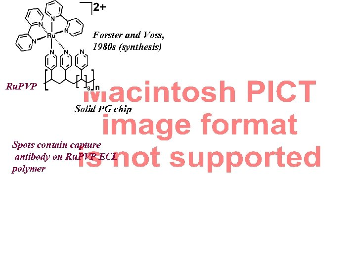 Forster and Voss, 1980 s (synthesis) Ru. PVP Solid PG chip Spots contain capture