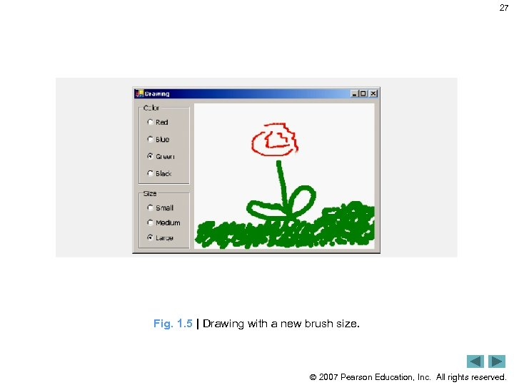 27 Fig. 1. 5 | Drawing with a new brush size. 2007 Pearson Education,