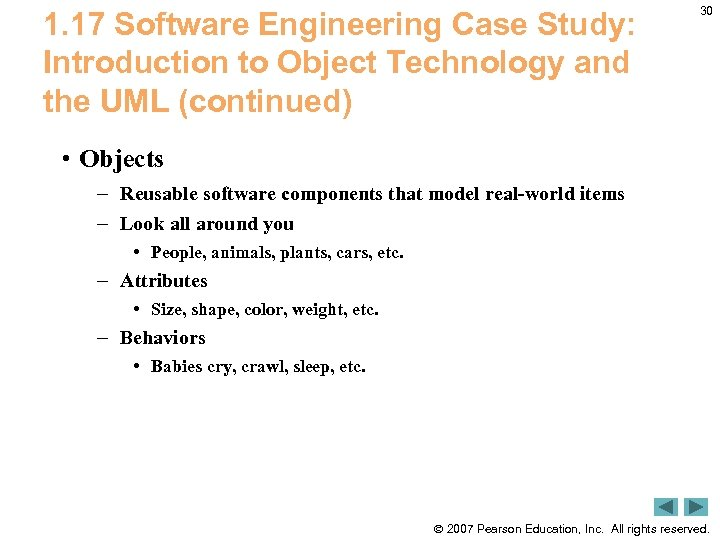 1. 17 Software Engineering Case Study: Introduction to Object Technology and the UML (continued)