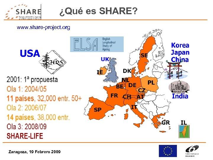 ¿Qué es SHARE? www. share-project. org Zaragoza, 19 Febrero 2009