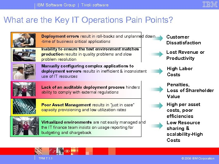 IBM Software Group | Tivoli software What are the Key IT Operations Pain Points?