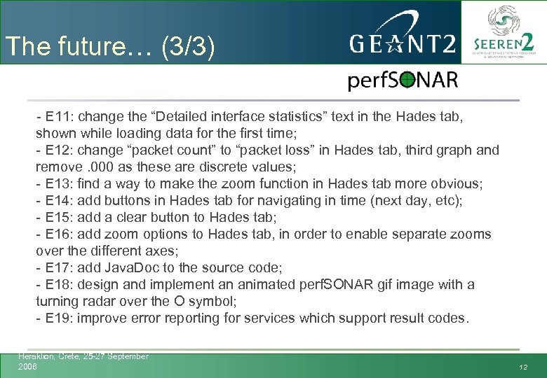 """The future… (3/3) - E 11: change the """"Detailed interface statistics"""" text in the"""