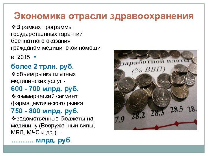 Экономика отрасли здравоохранения v. В рамках программы государственных гарантий бесплатного оказания гражданам медицинской помощи