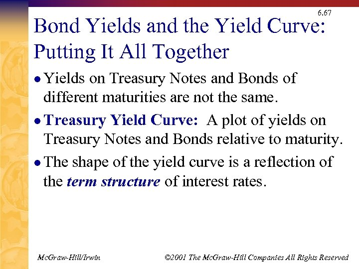6. 67 Bond Yields and the Yield Curve: Putting It All Together l Yields
