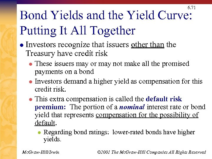 6. 71 Bond Yields and the Yield Curve: Putting It All Together l Investors