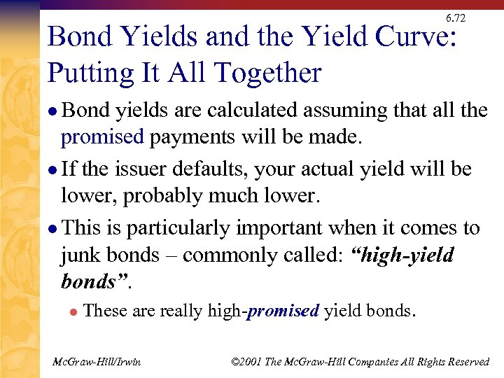 6. 72 Bond Yields and the Yield Curve: Putting It All Together l Bond