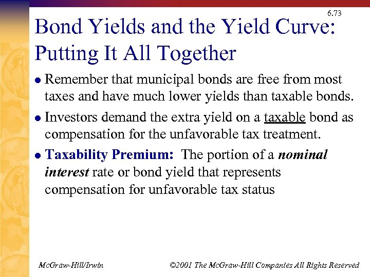 6. 73 Bond Yields and the Yield Curve: Putting It All Together Remember that