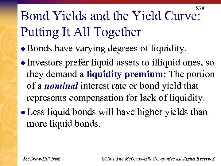 6. 74 Bond Yields and the Yield Curve: Putting It All Together l Bonds