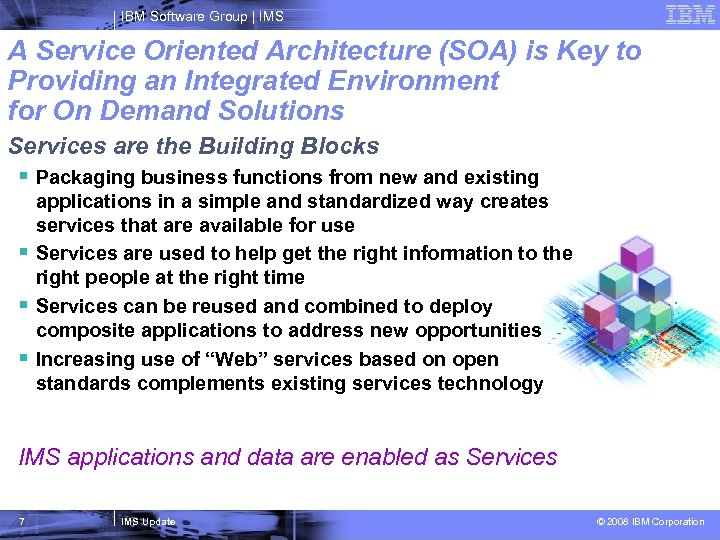 IBM Software Group   IMS A Service Oriented Architecture (SOA) is Key to Providing