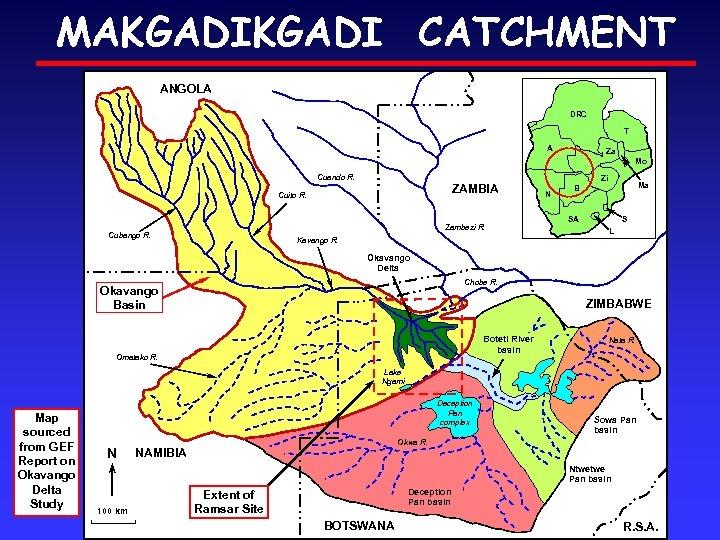 MAKGADI CATCHMENT ANGOLA DRC T A Za Mo Cuando R. ZAMBIA Cuito R. Zambezi