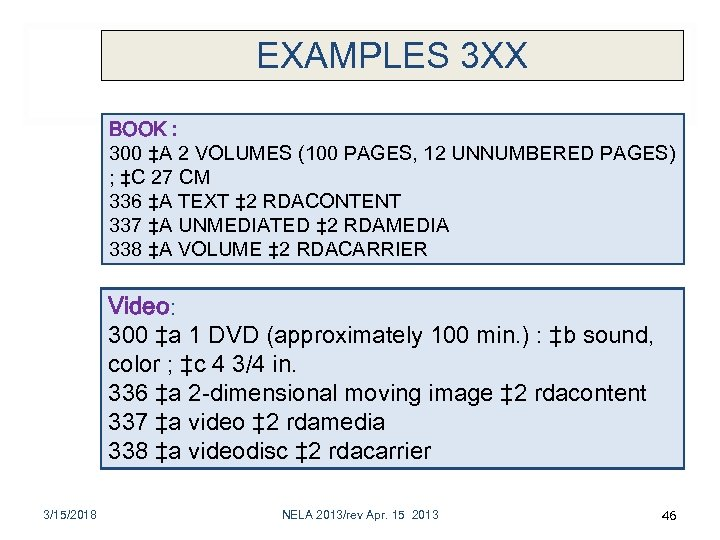 EXAMPLES 3 XX BOOK : 300 ‡A 2 VOLUMES (100 PAGES, 12 UNNUMBERED PAGES)