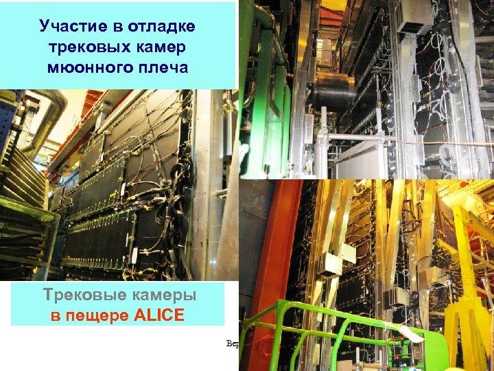 Участие в отладке трековых камер мюонного плеча Трековые камеры в пещере ALICE Версия 0.