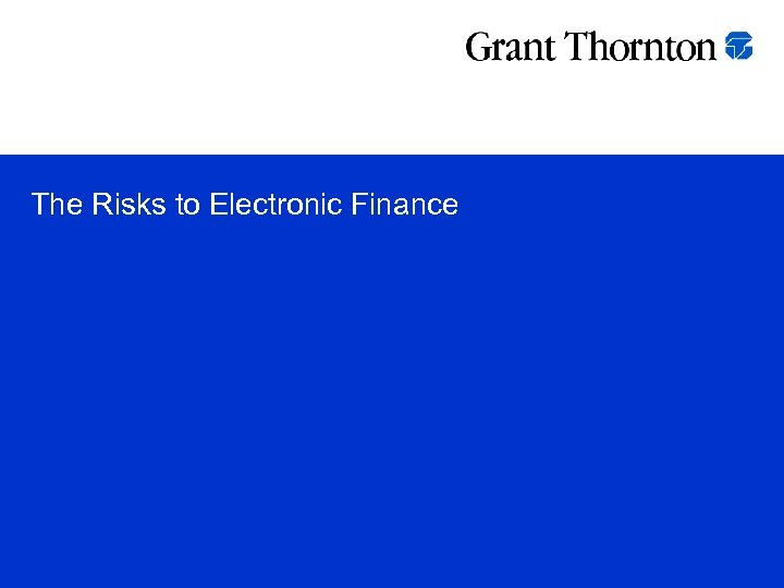 The Risks to Electronic Finance