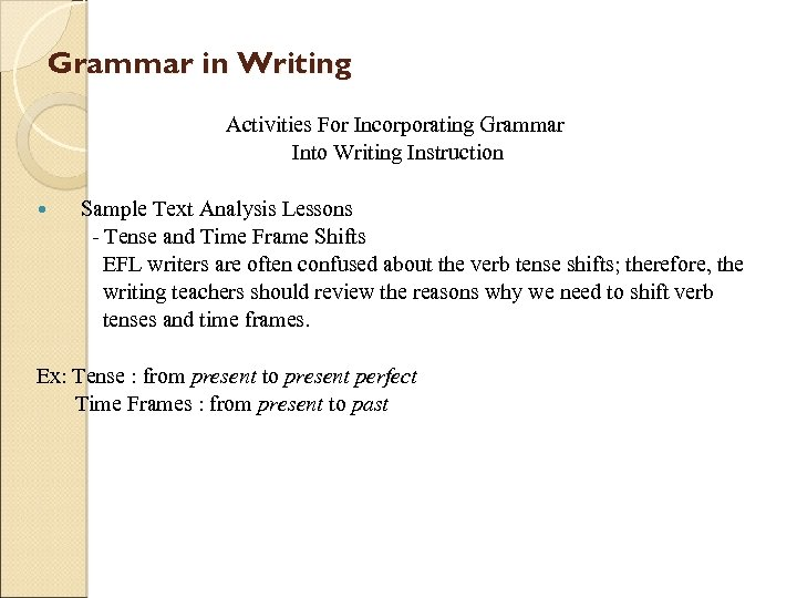 Grammar in Writing Activities For Incorporating Grammar Into Writing Instruction Sample Text Analysis Lessons