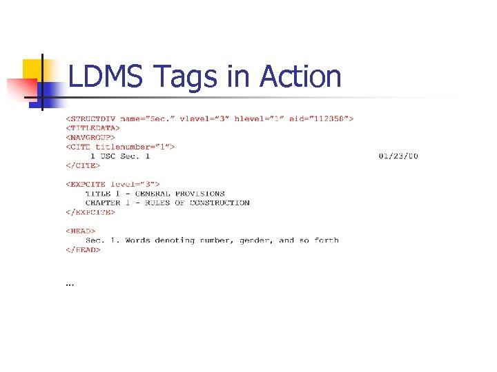 Legal Data Markup Software CS 501 Design Presentation